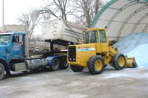 snow management salt delivery